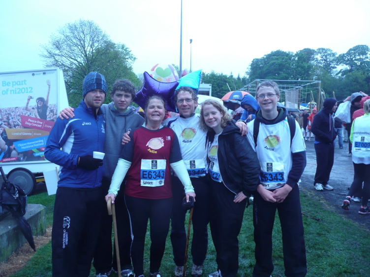 Team Cannon Power after completing the team Relay of Belfast Marathon 2012