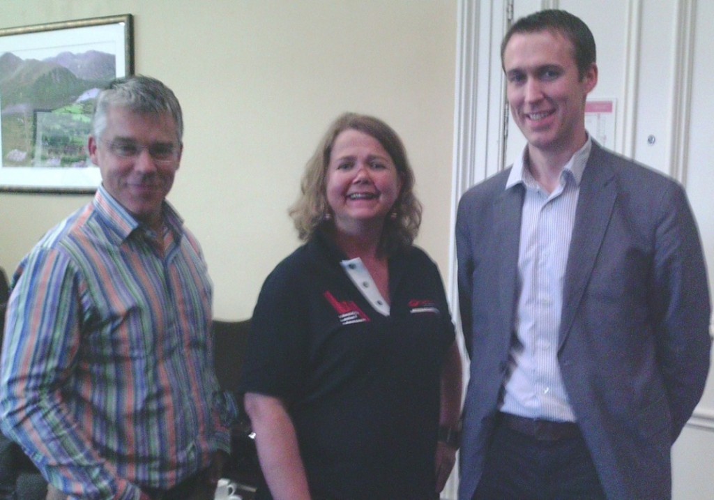 Professor Mark Little, Julie Power and Eamonn Molloy